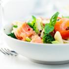 Salade de penne, saumon et brocoli